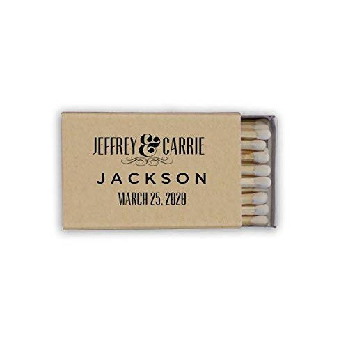 (Gold Foil Matches, Wedding Favor, Custom Matchboxes, Let's Get Lit, Cigar Bar, Monogram Match 43)