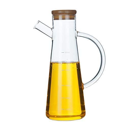 - TOOGOO 500Ml High Borosilicate Glass Olive Oil Vinegar Pot Dispenser Bottles Vinegar Can Cruet Storage with Handle and Lid Oil Bottle