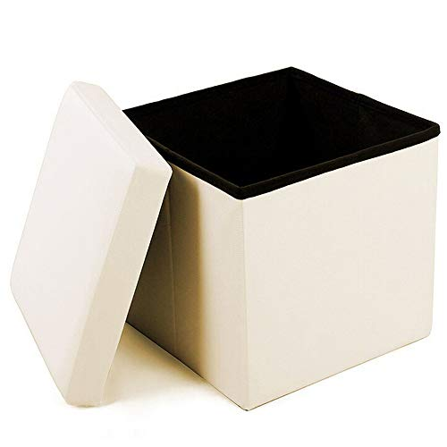Geartist GOO1 Leather Folding Organizer Storage Ottoman Bench Footrest Stool Coffee Table Cube, Camping Fishing Stool, Quick and Easy Assembly, Perfect for Child. 12