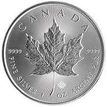 2017 1 Oz Silver Maple Leaf $5 Coin Canada