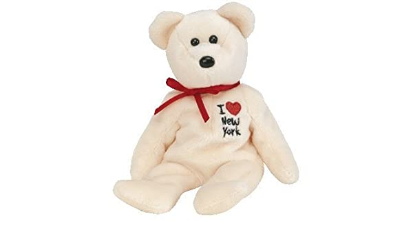 5ee6ab46991 Amazon.com  TY New York the Bear Beanie Baby from the I Love Series by TY~US  STATE CITY BEANIES  Toys   Games