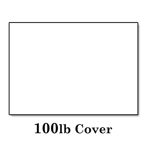 Hamilco White Cardstock Thick Paper - Blank Index Flash Note & Post Cards - Greeting Invitations Stationary 4 X 6 Heavy Weight 100 lb Card Stock for Printer (100 Pack) by Hamilco