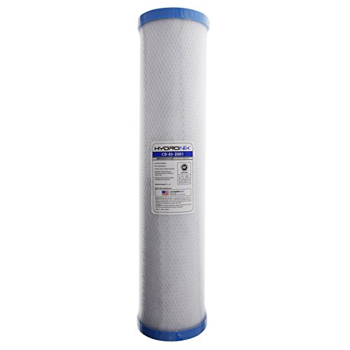 Hydronix CB-45-2001 Whole House, Commercial and Industrial NSF Coconut Activated Carbon Block Water Filter, 1 Micron, 4.5