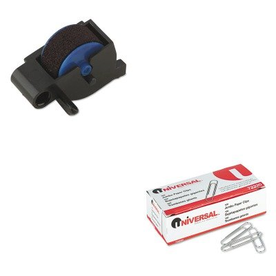 KITDYM47001UNV72220 - Value Kit - Dymo Replacement Ink Roller for DATE MARK Electronic Date/Time Stamper (DYM47001) and Universal Smooth Paper Clips (UNV72220)