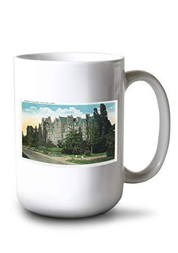 (Lantern Press Hartford, Connecticut - Trinity College Campus and Buildings (15oz White Ceramic Mug))