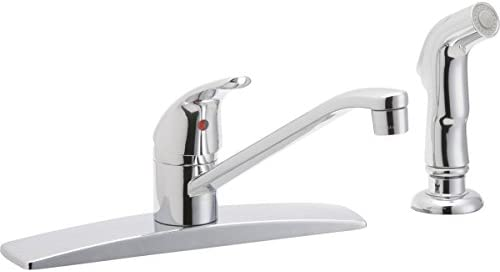 Elkay Everyday LK2478CR Three Hole Deck Mount Kitchen Faucet with Side Spray, Chrome