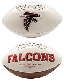NFL Atlanta Falcons Official Full-Size Autograph Football (Fame Of Hall Atlanta Falcons)