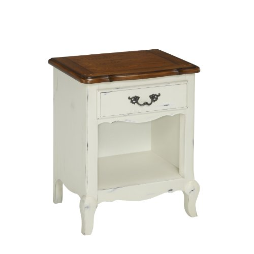 Home Styles 5518-42 The French Countryside Night Stand, Oak/Rubbed (Country Cottage Furniture)