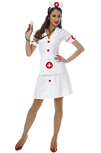 Costume Culture Women's Classic Nurse Costume, White, Small -