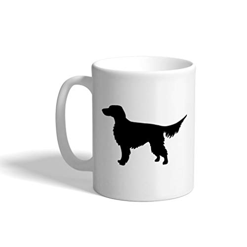 Custom Funny Coffee Mug Coffee Cup Gordon Setter Silhouette White Ceramic Tea Cup 11 OZ Design Only (Gordon Setter Silhouette)