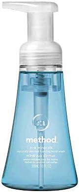 Method Jabón Líquido para Manos en Espuma, Sin Parabenos y Formulado Con Ingredientes Naturales, Minerales Mar