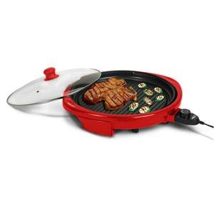 """Maxi Matic USA EMG980R 14"""" Round Health Grill Red"""