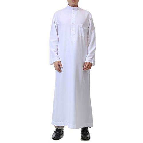 Used, BooW Muslim Men Long Sleeve Thobe Middle East Saudi for sale  Delivered anywhere in USA