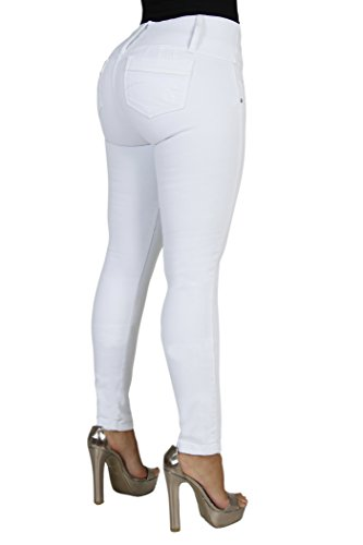 Amazon.com: Curvify All White Skinny Jeans | Jeans Butt Lift ...