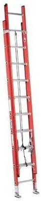 36 ft Fiberglass Extension Ladder with 300 lb. Load Capacity