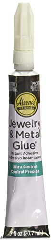 Aleene's Jewelry & Metal Glue, 0.7 oz - Instant Adhesive, Permanent Bond, Waterproof, Dries Clear, Ideal for Repairs