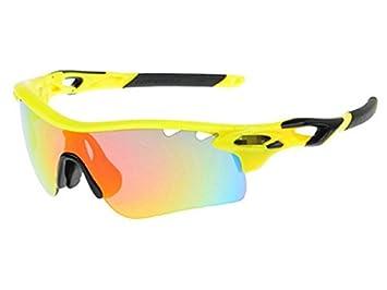 HOUHOUNNPO Maravillosa Gafas de Sol Deportivas polarizadas Gafas de Ciclismo con 5 Lentes Intercambiables para Hombres