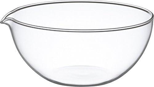 iwaki(イワキ) ボウル 耐熱ガラス 注ぎ口付き 500ml 外径15.2cm KBT914