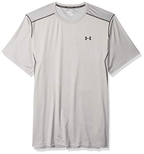 Under Armour Men's Raid Short Sleeve T-Shirt, True Gray Heather (025)/Black, Small (Best Cyber Monday Workout Clothes)