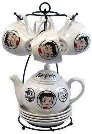 - Betty Boop Tea Set 11 Pieces