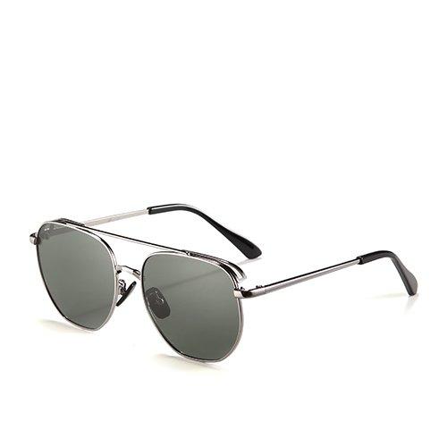 soleil de pêche TL polarisé Guide voyage de métallique pour Lunettes le Gun hommes de Sunglasses unisexe C1 Smoke Lunettes Cadre Aviator OwOxqAg7an