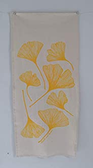 Organic Cotton Ginkgo Leaf Tea Towel in Yellow