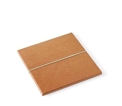 Selfpackaging Caja para fotógrafos en cartulina Kraft y Cierre con gomilla Blanca. Pack de 50 Unidades