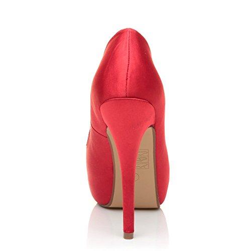 Escarpins Uk Satiné Rouge Pour Shuwish Femme 07TqwT5