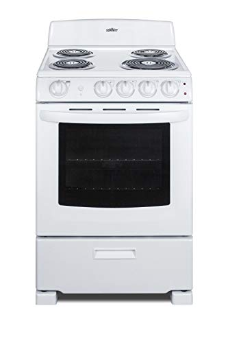 - Summit RE2411W 24 Inch Wide 2.9 Cu. Ft. Free Standing Electric Range with Sensor Cooking