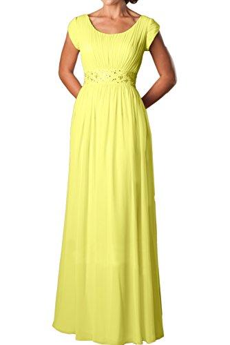 Vestido Mujer Corte en Trapecio Amarillo Topkleider para A 60 o FxdABwRqw