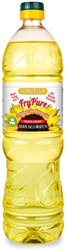 - SUNVELLA FryPure Non-GMO Original Sunflower Oil, Pressed-Refined 33.8 FL OZ (1.0L)