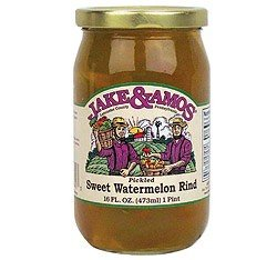Jake & Amos Pickled Sweet Watermelon Rind, 16 oz ()