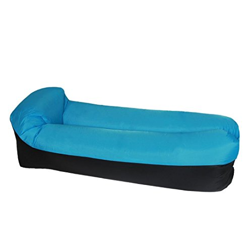Price comparison product image Quick Inflatable Sofa / Bed / Boat Leisure sleeping Bags Recliner Lounge Swimming Pool Float for Kids and Adults (Blue)