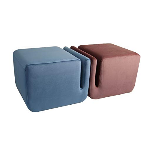 YXLchairs Footstool and Pouffes,Foot Stools,Ottoman Pouffe Chair Stool Fabric Cover,Creative Stool (Color : Brown)