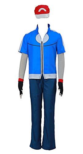 CHIUS Cosplay Costume Ash Katchum Satoshi Outfit Ver 5 ()