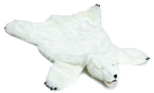 Carstens, Inc Plush White Bear Animal Rug, Large,