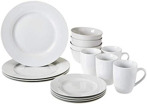 Sel Doux Carré 16 Pièces Dinnerware Set Blanc