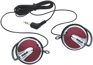 UPC 079000325697, RCA HP275R EClipz Sport Clip-On Earphones, Red