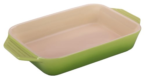 Le Creuset Stoneware Rectangular Dish, 7-Inch by 5-Inch, Palm