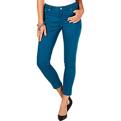 Michael Kors Womens Izzy Slimming Cropped Skinny Jeans Blue 6