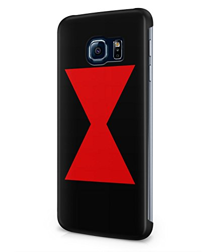 Black Widow Logo The Avengers Plastic Snap-On Case Cover Shell For Samsung Galaxy S6 EDGE