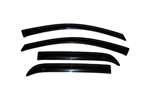 (Auto Ventshade 94632 Original Ventvisor Side Window Deflector Dark Smoke, 4-Piece Set for 2007-2016 GMC Acadia, 2017-2018 Acadia Limited, 2007-2010 Saturn Outlook)