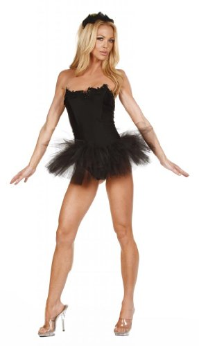 [Nom de Plume, Inc Sexy Stretch Lycra Black Swan Dress Smal Black] (Black Swan Costumes For Halloween)