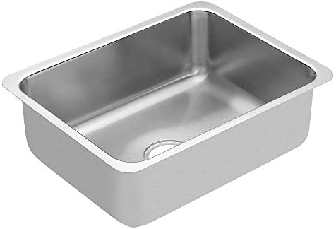 Moen G18191 1800 Series 18 Gauge Single Bowl Undermount Sink, Stainless Steel