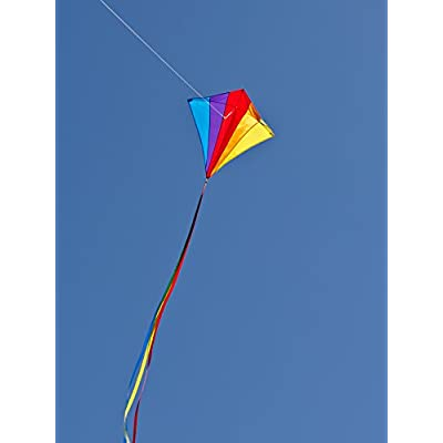 In the Breeze Rainbow Diamond 30 Inch Kite - Single Line - Ripstop Fabric - Includes Kite Line and Bag - Great Entry Level Kite : Garden & Outdoor