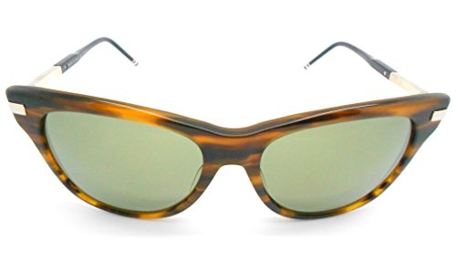 Thom Browne TB-506B Walnut Gold with Gold Flash- AR - Brown Thom Sunglasses