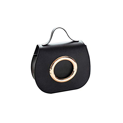 Wholesale Designer Handbag - Shoulder Bag for Women Fashion Pure Color Leather Messenger Shoulder Chest Bag Series 1,Rakkiss Black