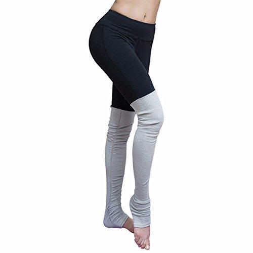 cross1946mallas medias de YOAG para mujer deporte danza torusers Pilates Leggings Black&Grey