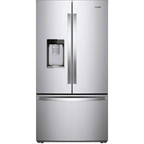 (Whirlpool WRF954CIHZ 24 Cu. Ft. Stainless Counter-Depth French Door Refrigerator)