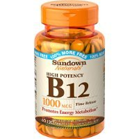 Sundown Naturals Vitamin B12 Tablets, 1000 mcg, 120 Count (Tablets Dog 120)